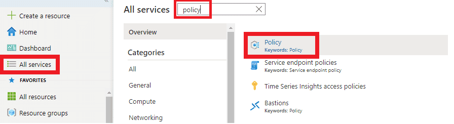 Create Azure Policy image 1