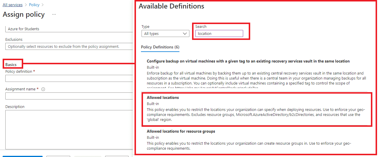 Create Azure Policy image 4