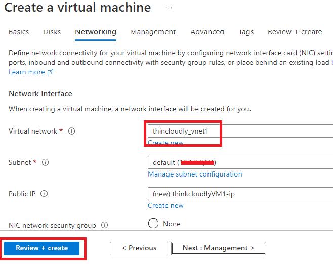 Azure Vnet