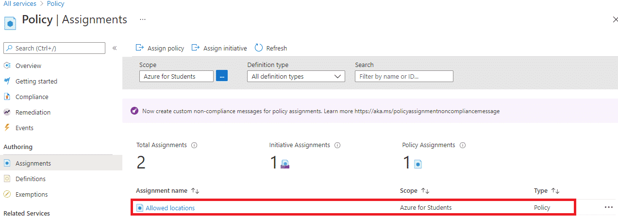 Create Azure Policy image 6