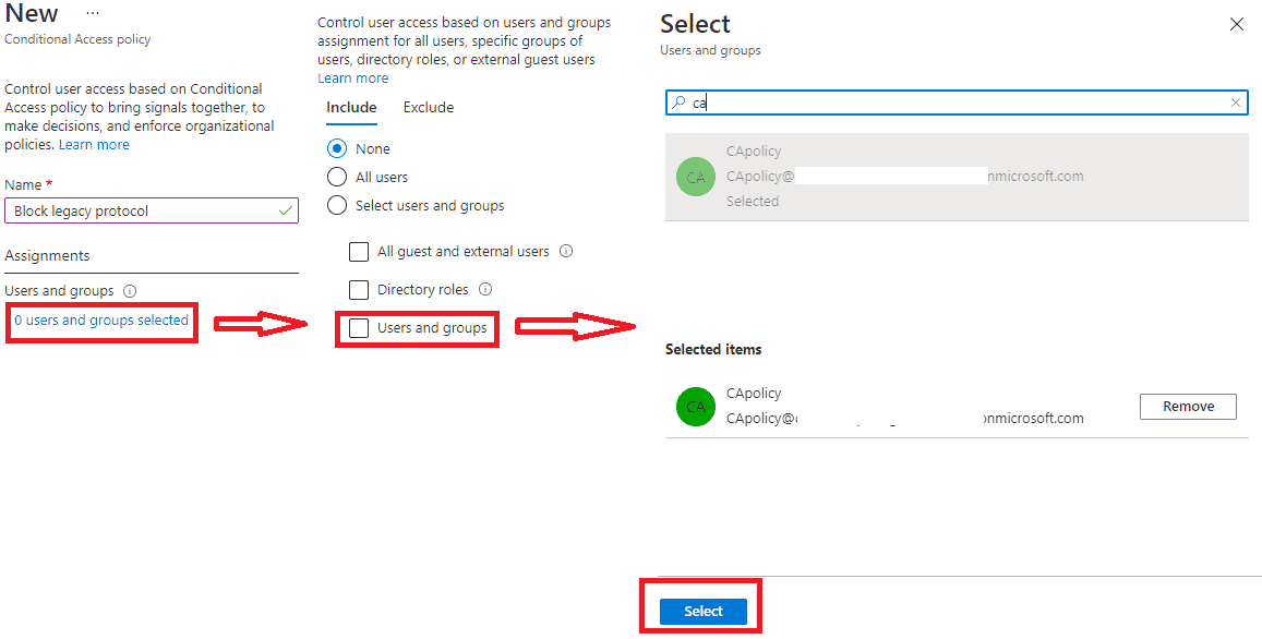 Conditional access policy
